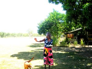 I was carrying damper between camps with my most love-ed Amala and her dog. She remembered she had to tell me a story.